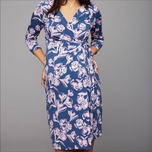 Floral tie wrap maternity dress A Pea In The Pod